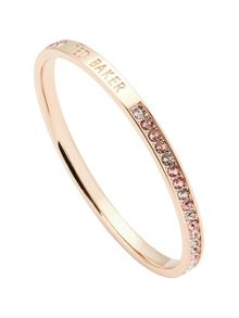 Ted Baker clem rose gold narrow crystal bangle