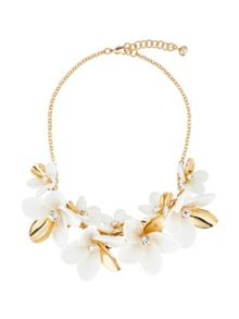 Ted Baker bao gold large blossom necklace