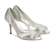Catherine crystal peep toe shoes