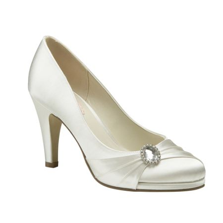 Paradox London Pink Strawberry round toe court shoes