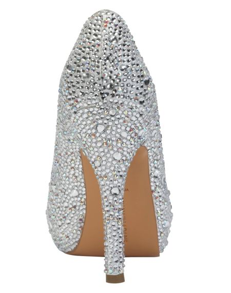 Benjamin Adams Charley crystal peep toe platform shoes