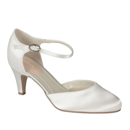 Paradox London Pink Freesia mid heel round toe shoes