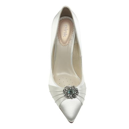 Paradox London Pink Honey pointed court shoes