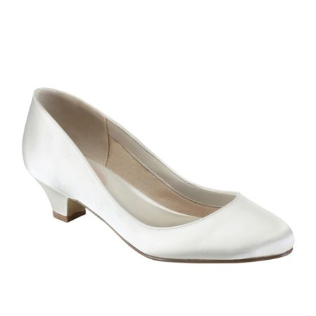Paradox London Pink Rosemary round toe court shoes