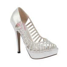 Truffle diamante platform peep toe shoes