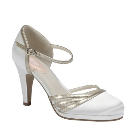 Paradox London Pink Bunting round toe court shoes