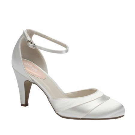 Paradox London Pink Fresh pleated satin round toe shoes