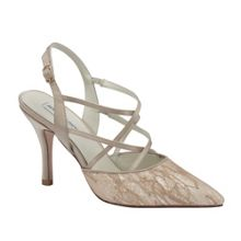 Rita glitter lace pointed court shoes
