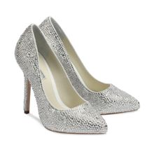Sylvia crystal encrusted court shoes