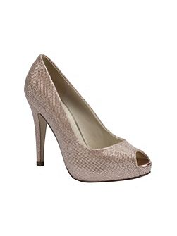 Yummy glitter peep toe platform shoes