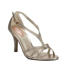 Paradox London Pink Strappy glitter `Vibrant` sandals