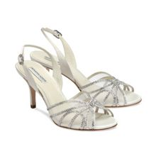 Natalie crystal sling back sandals
