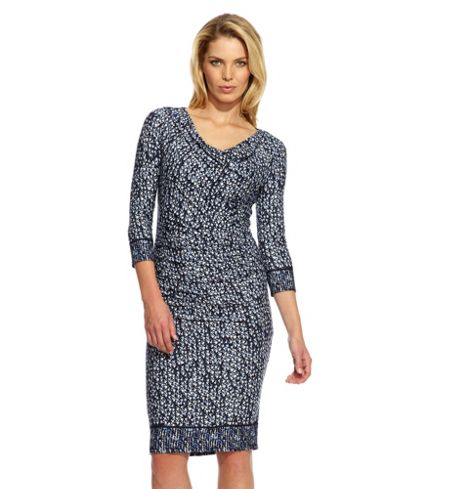 Damsel in a Dress Storm Print Dress