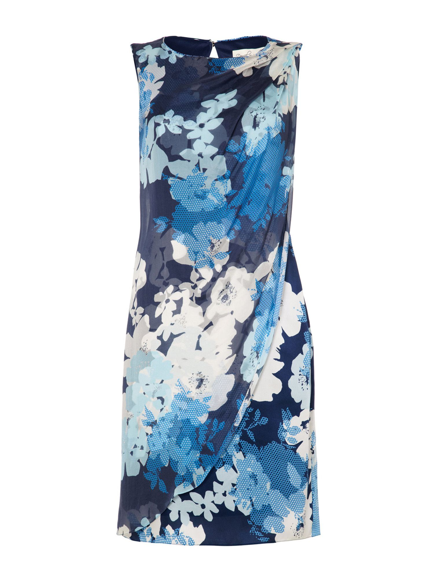 Damsel in a Dress Cerulean Print Dress, Blue