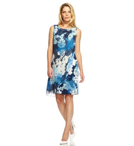 Damsel in a Dress Cerulean Print Dress