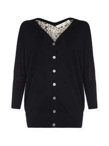 Damsel in a Dress Ebony Silk Cardigan