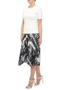 Feathers Pleated Skirt