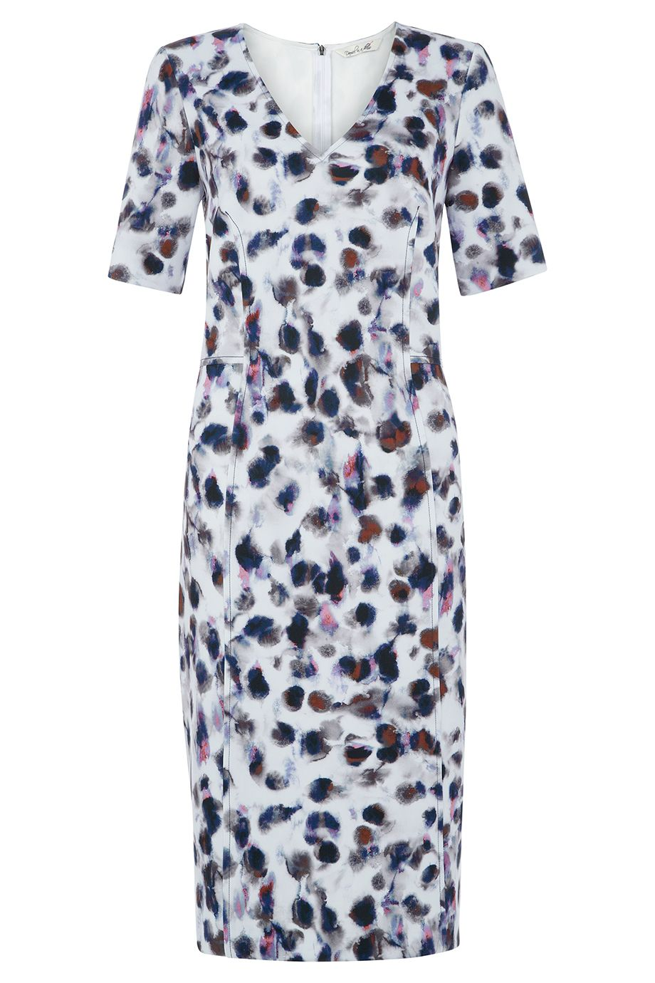Damsel in a Dress Snow Leopard Dress, Multi-Coloured
