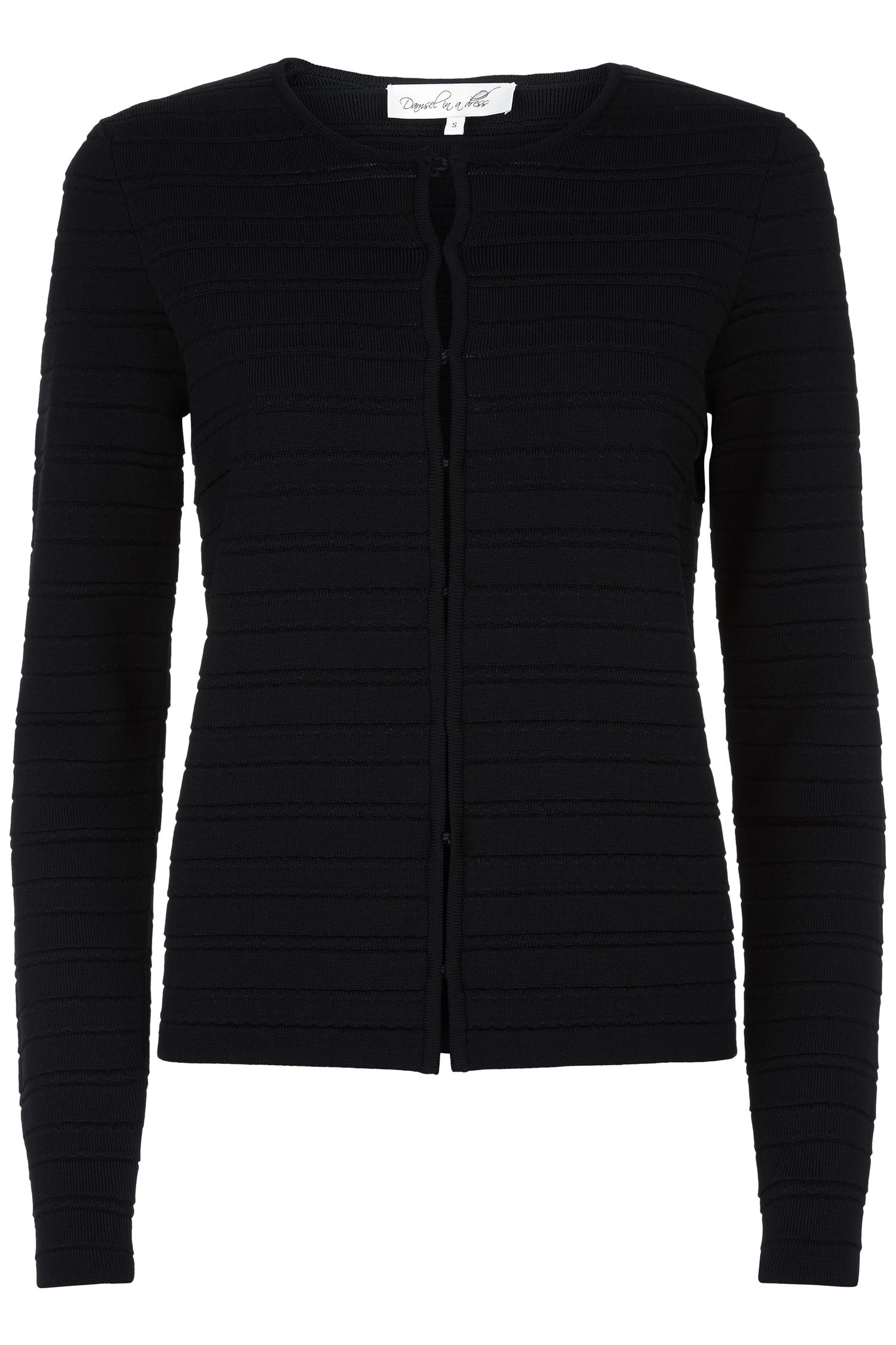 Damsel in a Dress Delia Knitted Jacket, Black