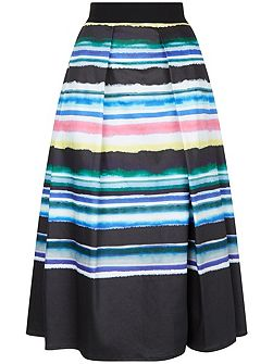 Watercolour Stripe Skirt
