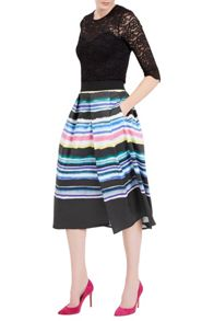 Damsel in a Dress Watercolour Stripe Skirt