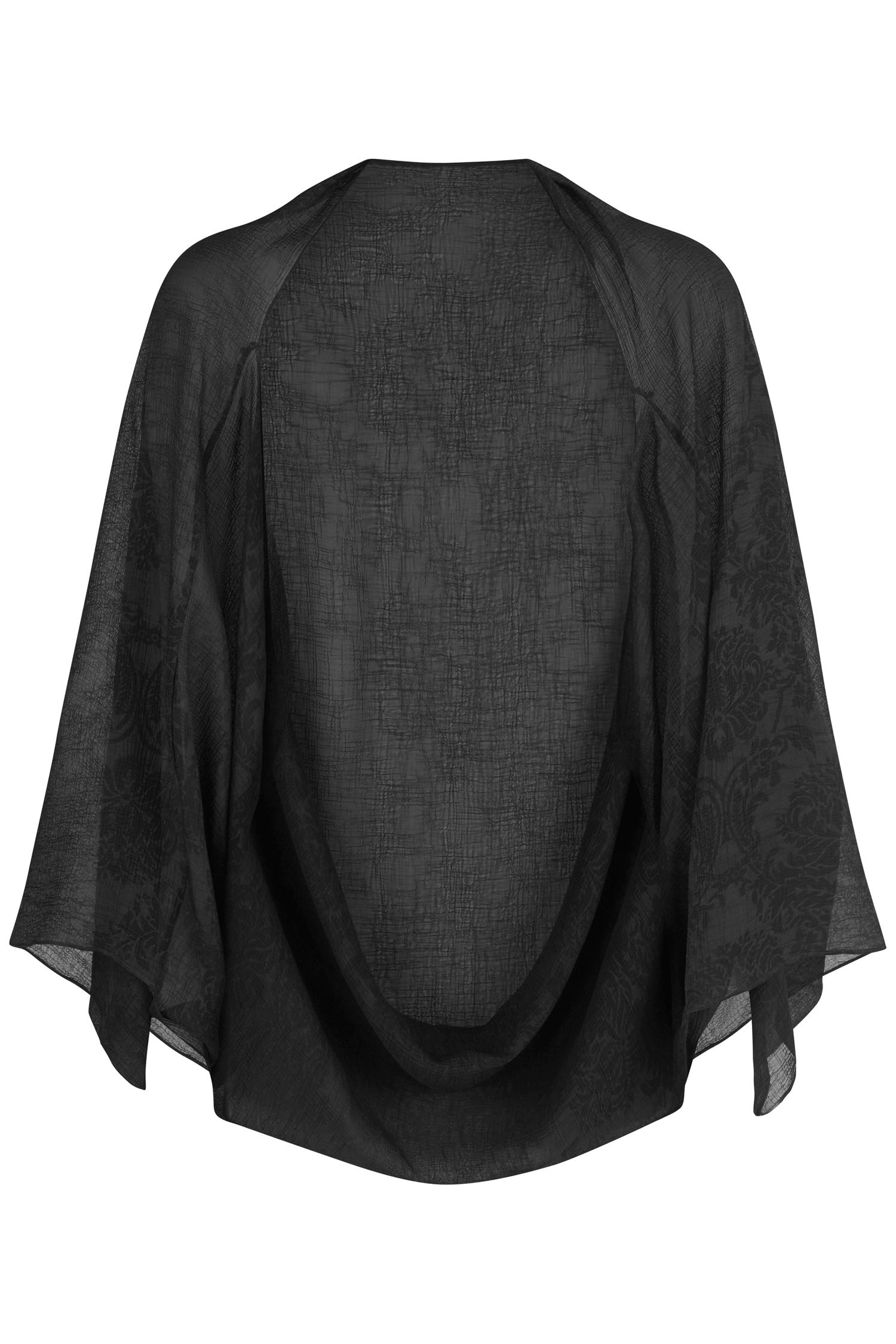 Damsel in a Dress Embossed Cape, Grey