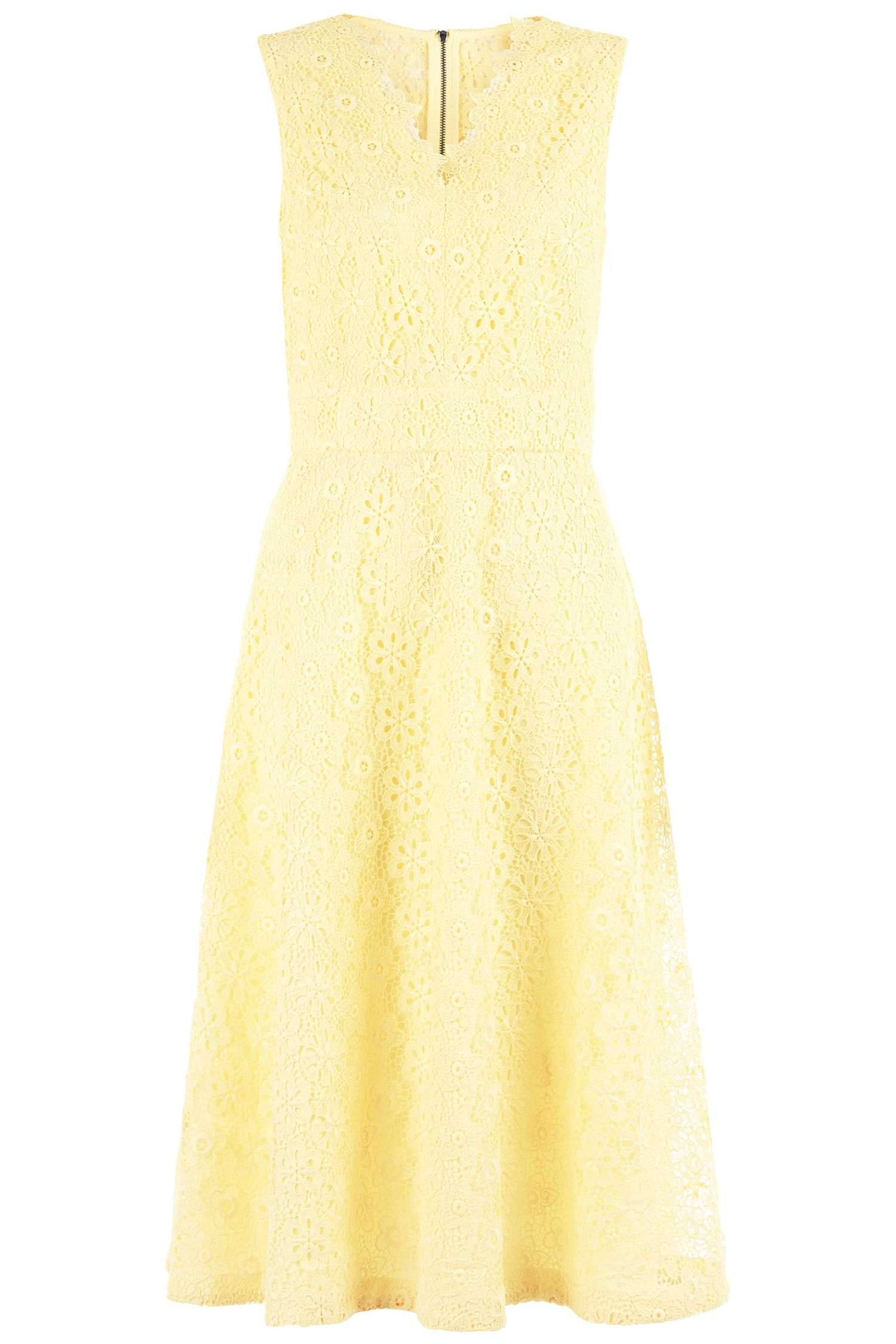 Damsel in a Dress Lace Dress, Lemon