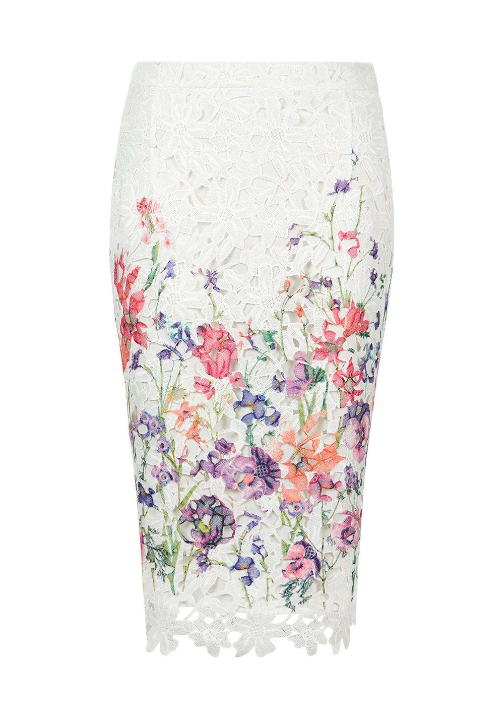 Damsel in a Dress Botanical Pencil Skirt, Cream
