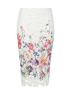 Botanical Pencil Skirt