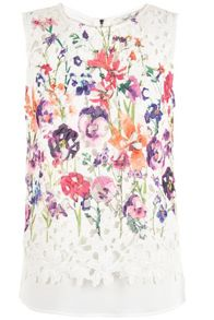 Damsel in a Dress Botanical Floral Shell Top