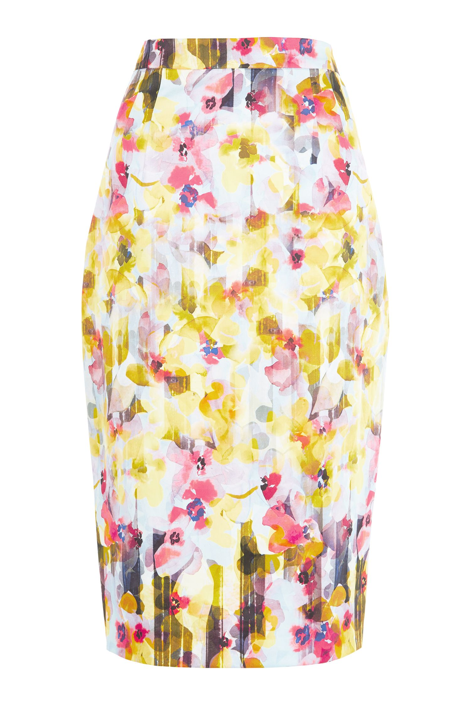 Damsel in a Dress Shadow Floral Skirt, Multi-Coloured