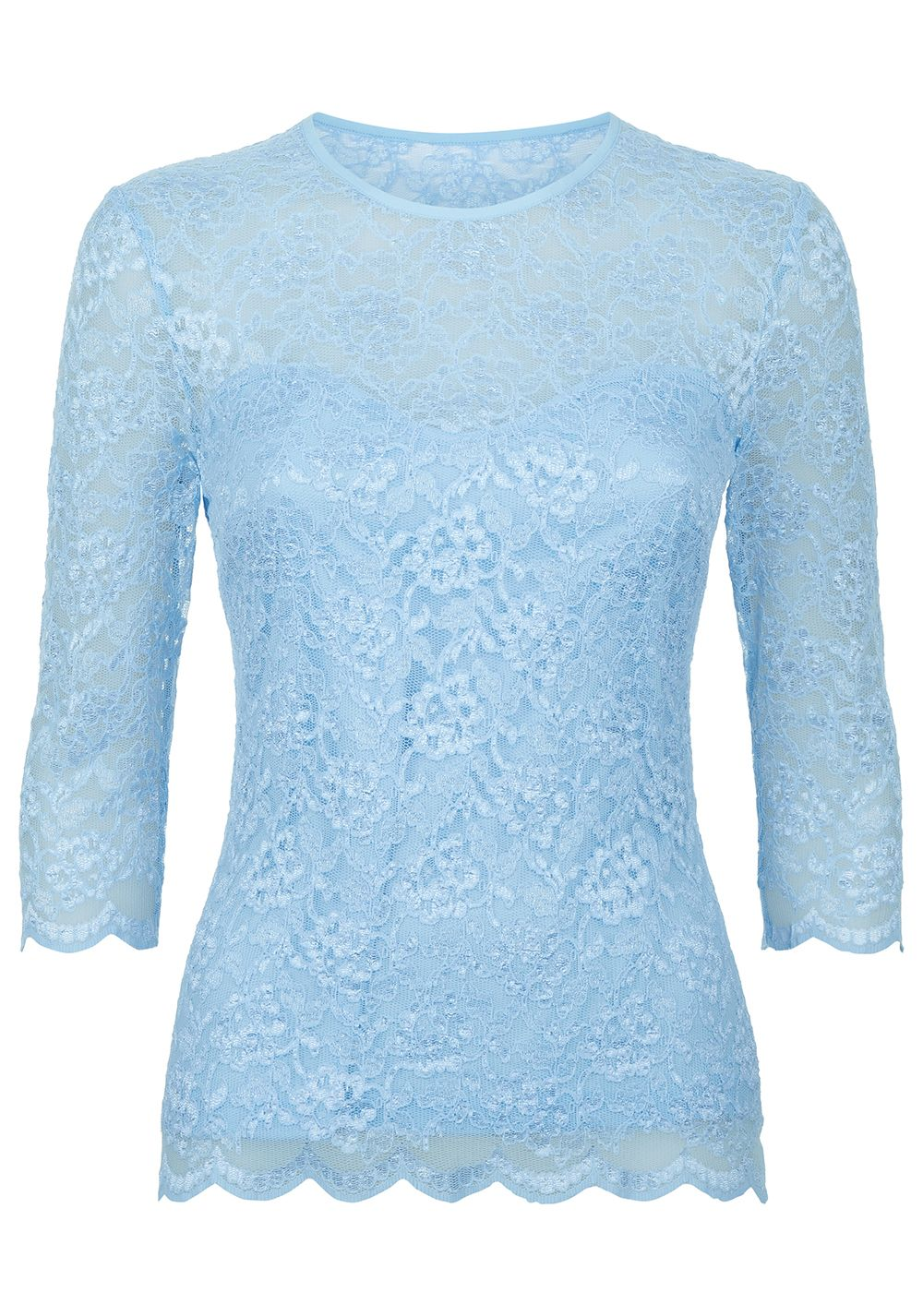 Damsel in a Dress Bern Lace Top, Light Blue