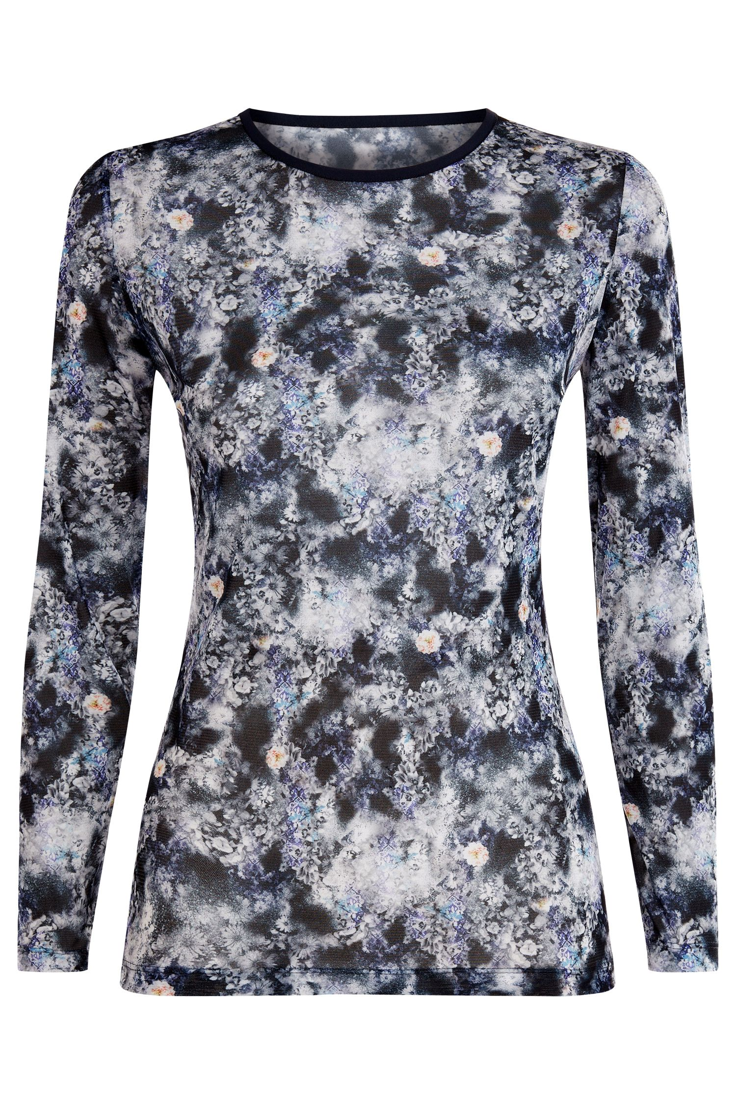 Damsel in a Dress Spray Daisy Top, Blue Multi