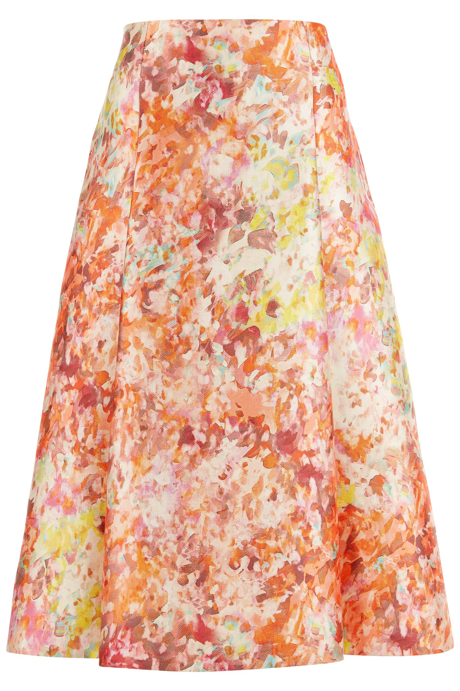 Damsel in a Dress Abstract Full Skirt, Multi-Coloured