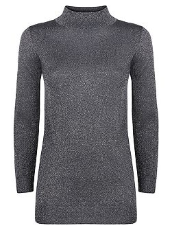 Melody Lurex Turtle Neck