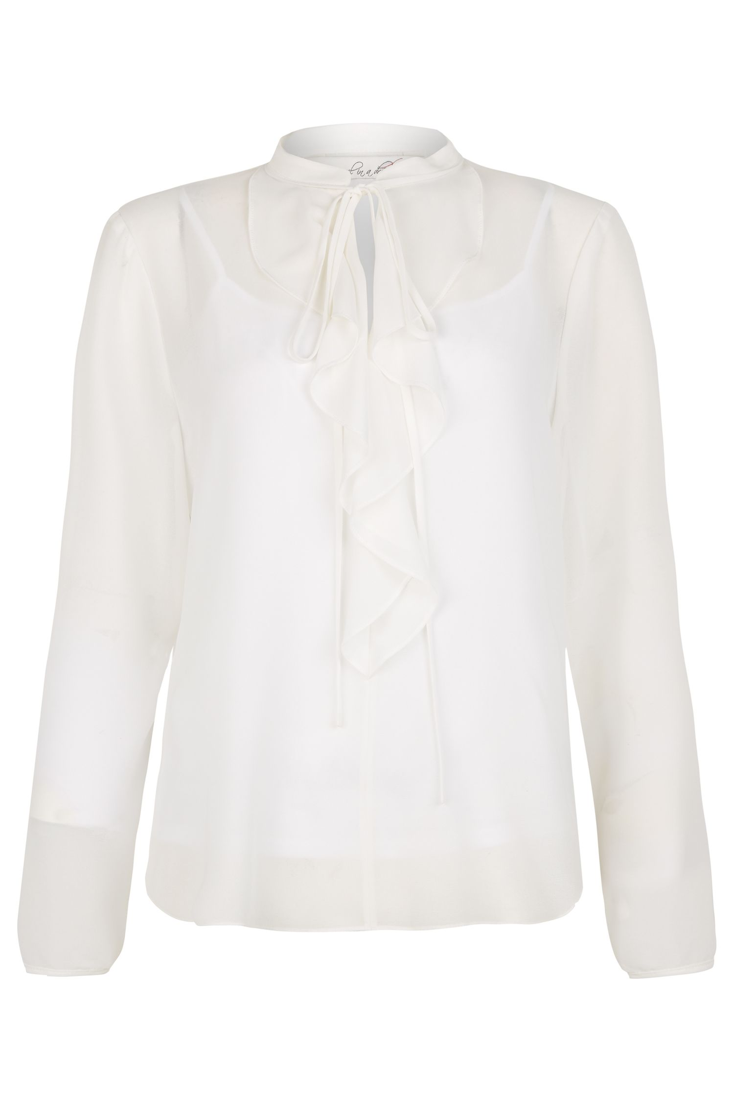 Edwardian Style Blouses Damsel in a Dress Lia Frill Blouse Cream £44.00 AT vintagedancer.com