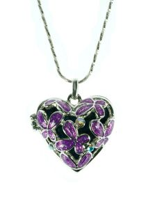 Purple heart locket