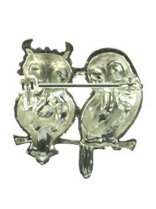 Two Owls Brooch