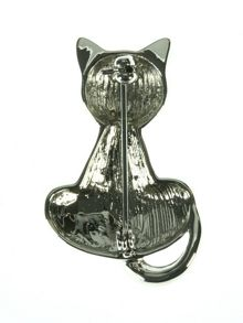 Indulgence Black Cat Brooch