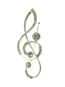 Indulgence Jewellery Treble Clef Brooch