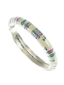 Lilac, green and cream round bangle