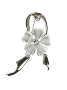 Indulgence Jewellery White resin flower brooch