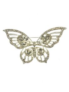 Indulgence Jewellery Crystal single butterfly brooch