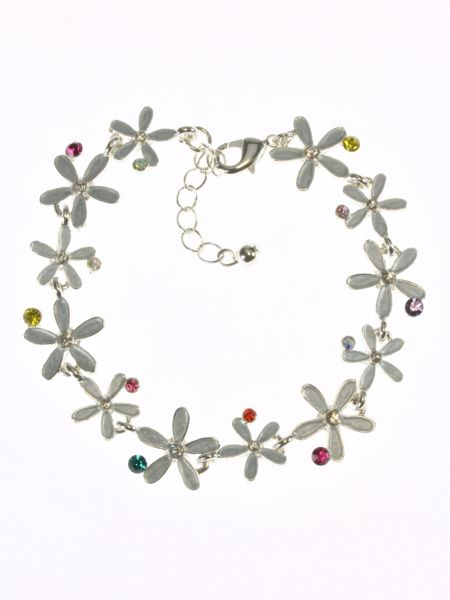 Indulgence Jewellery Silver plated flower bracelet