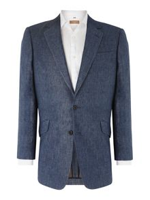 Classic linen single breasted Jacket