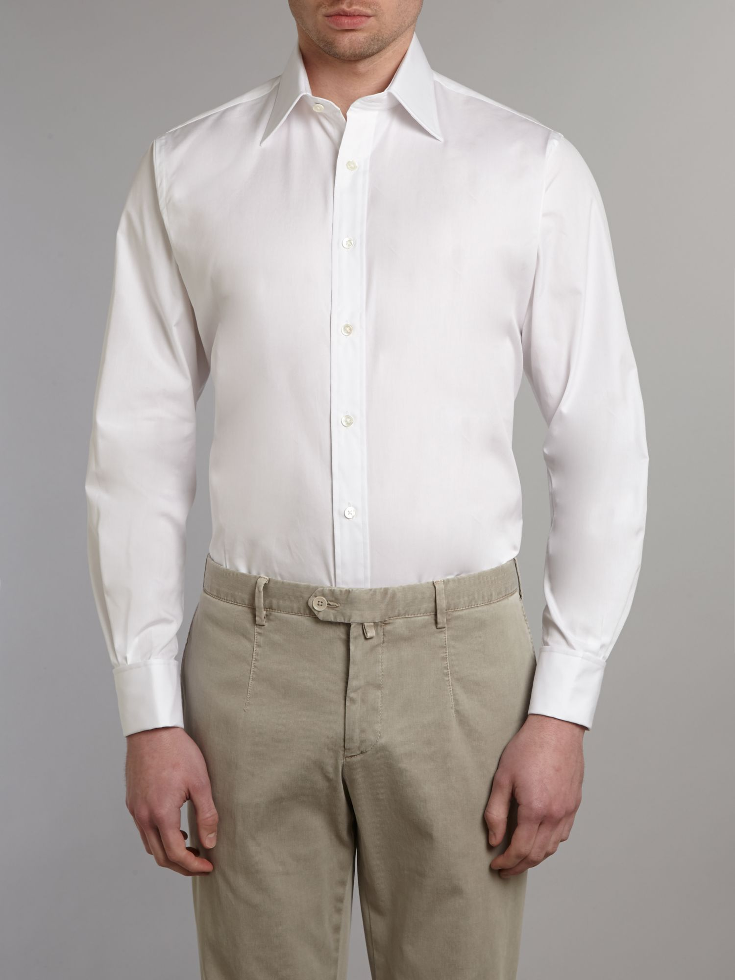 Long sleeved peter poplin shirt