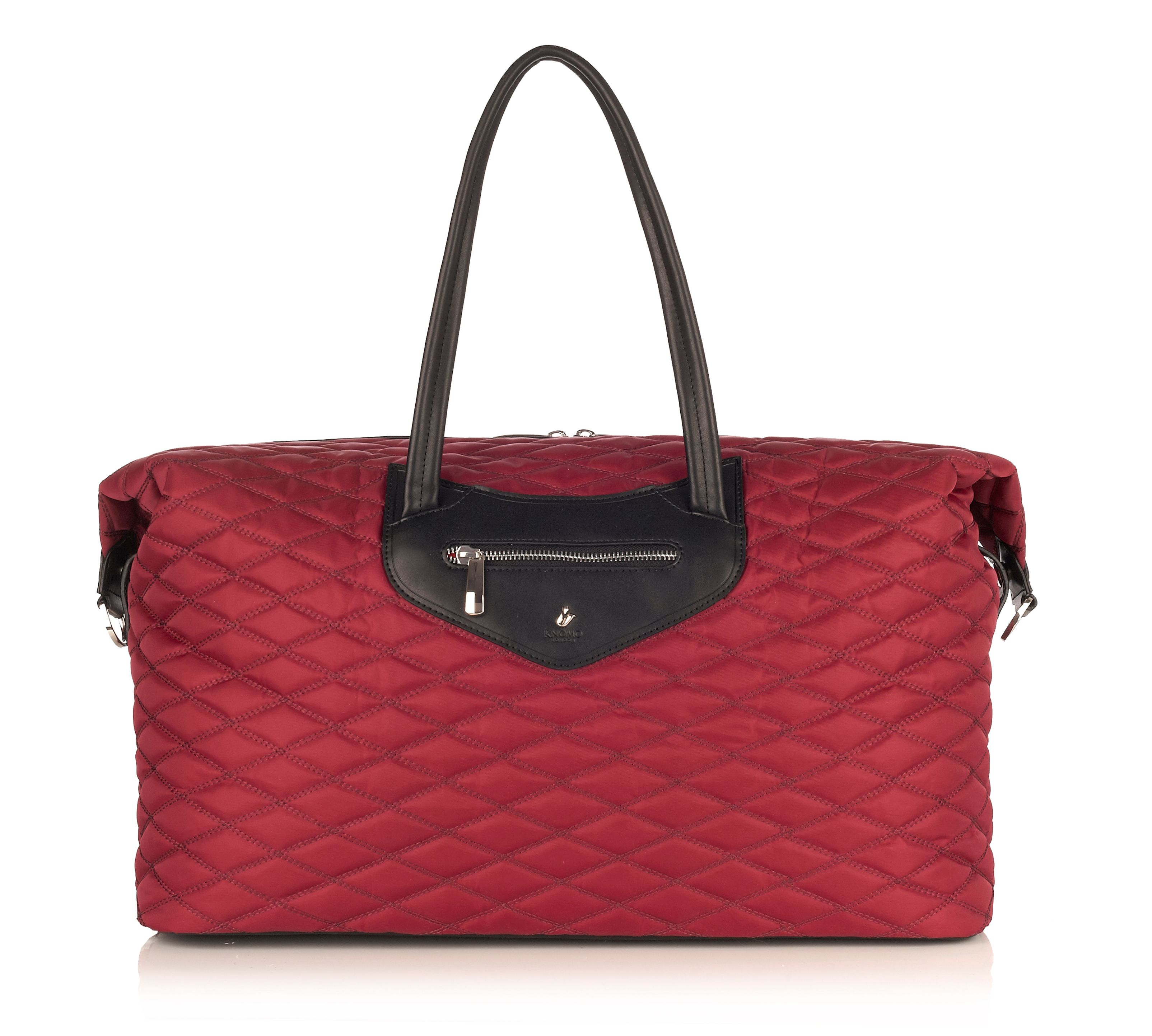 Scala quilted overnighter holdall red