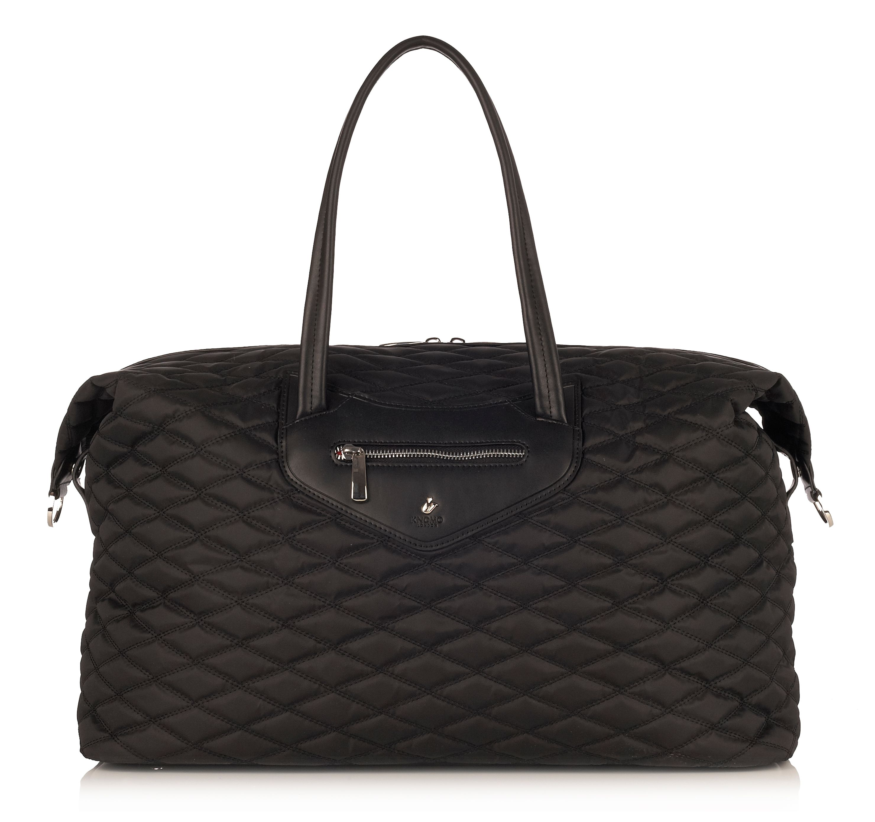 Huntley black weekender bag