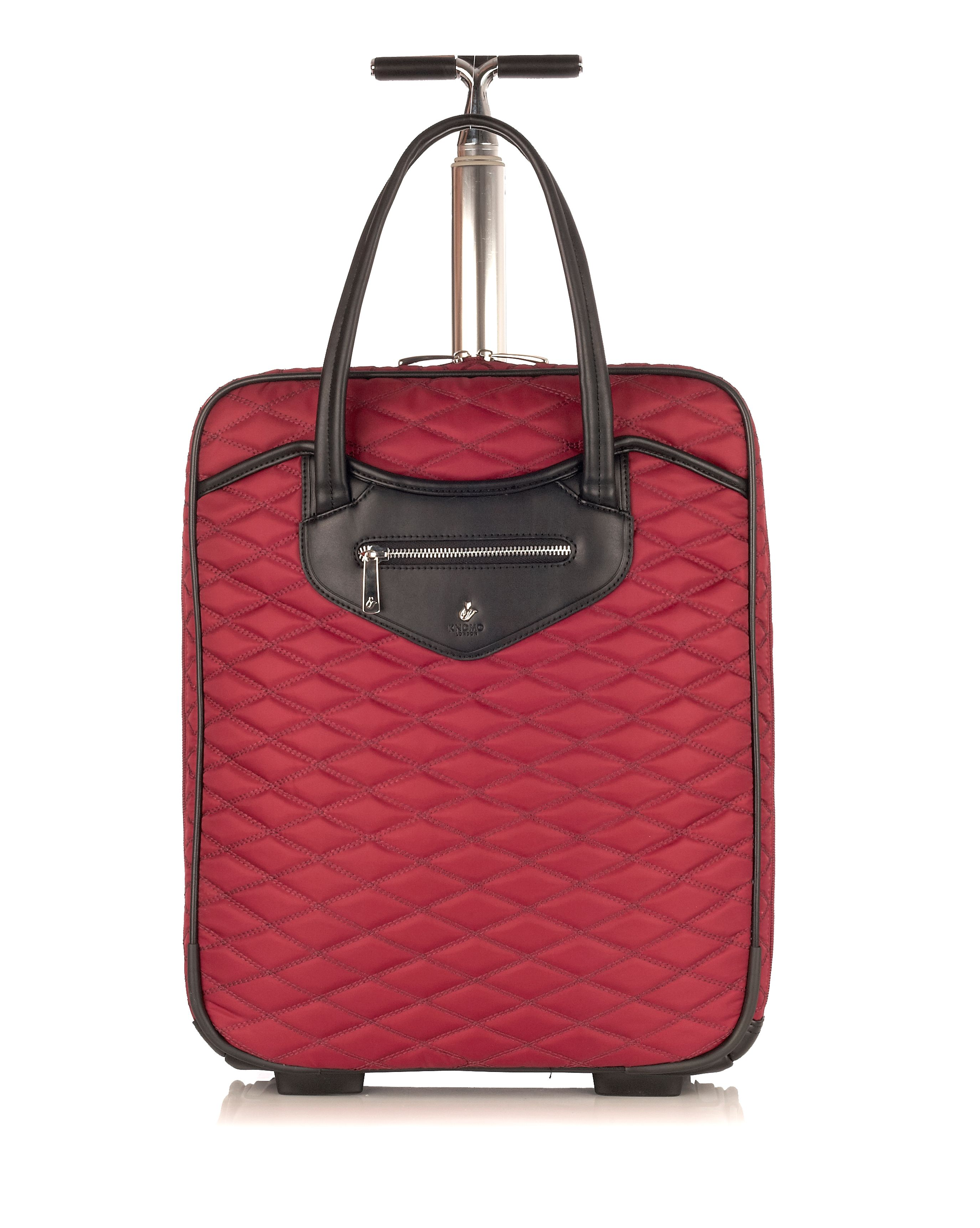 Scala black cherry wheeled business bag