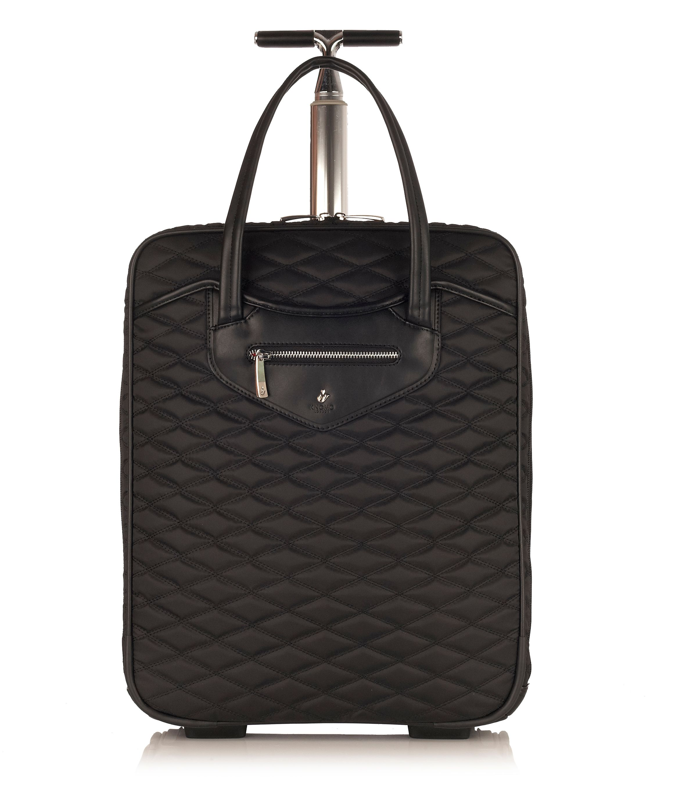 Scala black wheeled business bag
